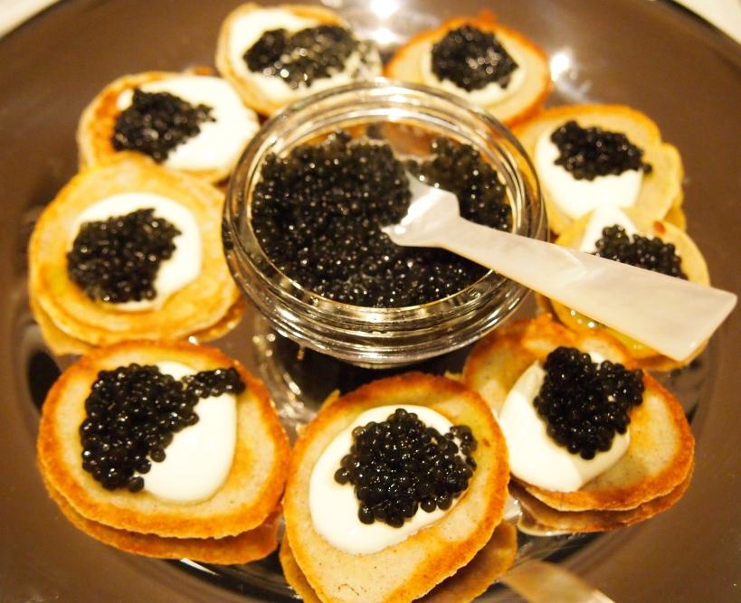 Buckwheat Blini With Caviar Mustard With Mutton