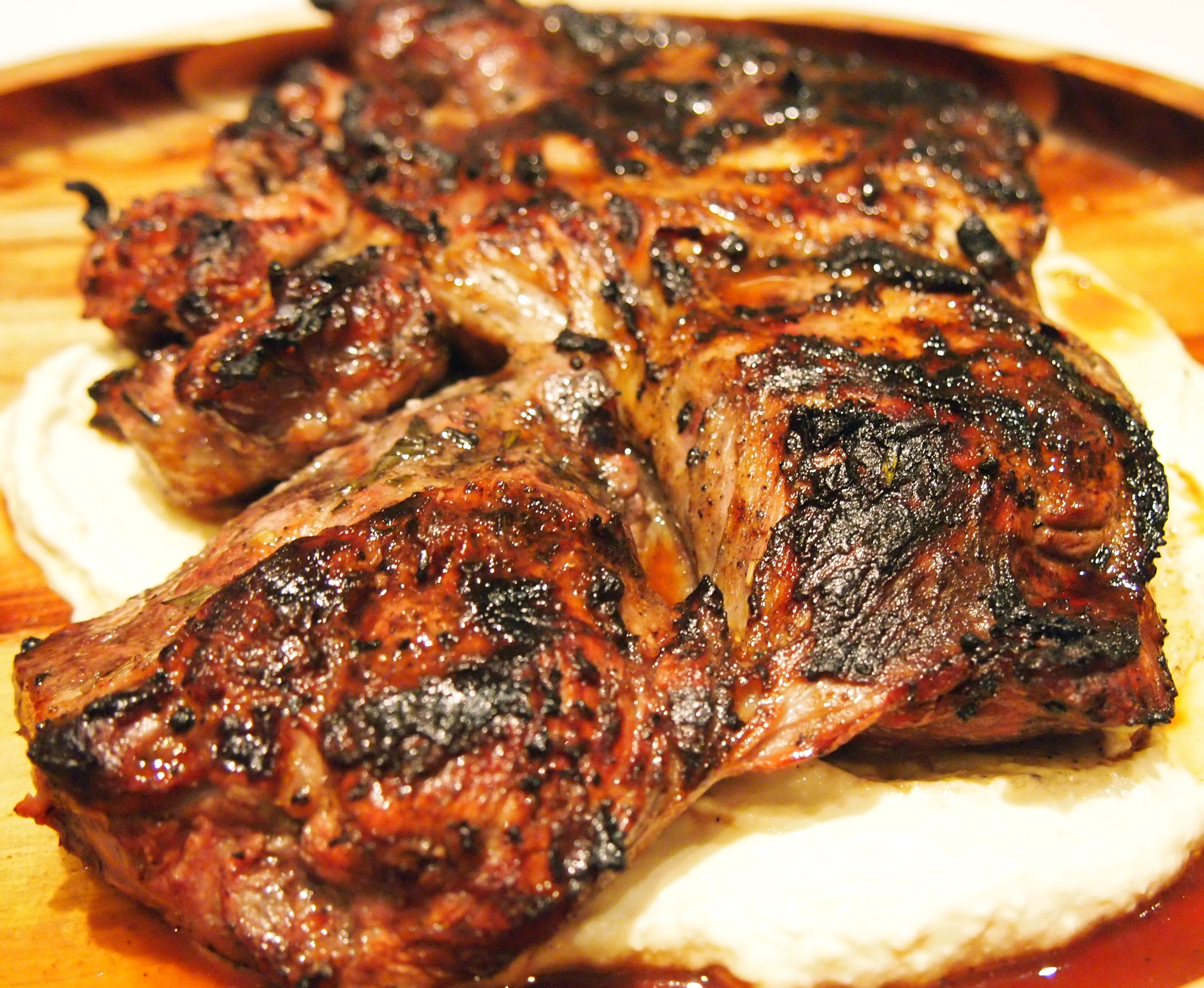Barbecued Butterflied Leg of Lamb with Middle Eastern ...