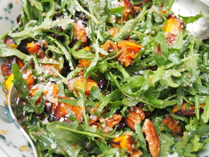 A Christmas Salad - Roasted Butternut Pumpkin Salad with warm cider vinigarette