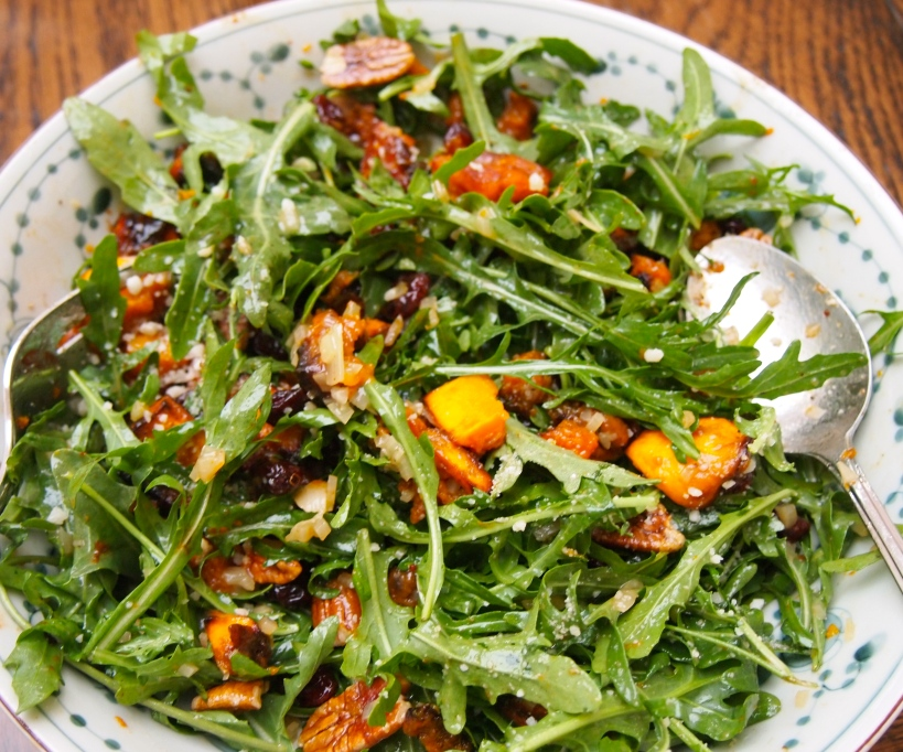 A Christmas Salad - Roasted Butternut Pumpkin Salad with Warm Cider Vinaigrette
