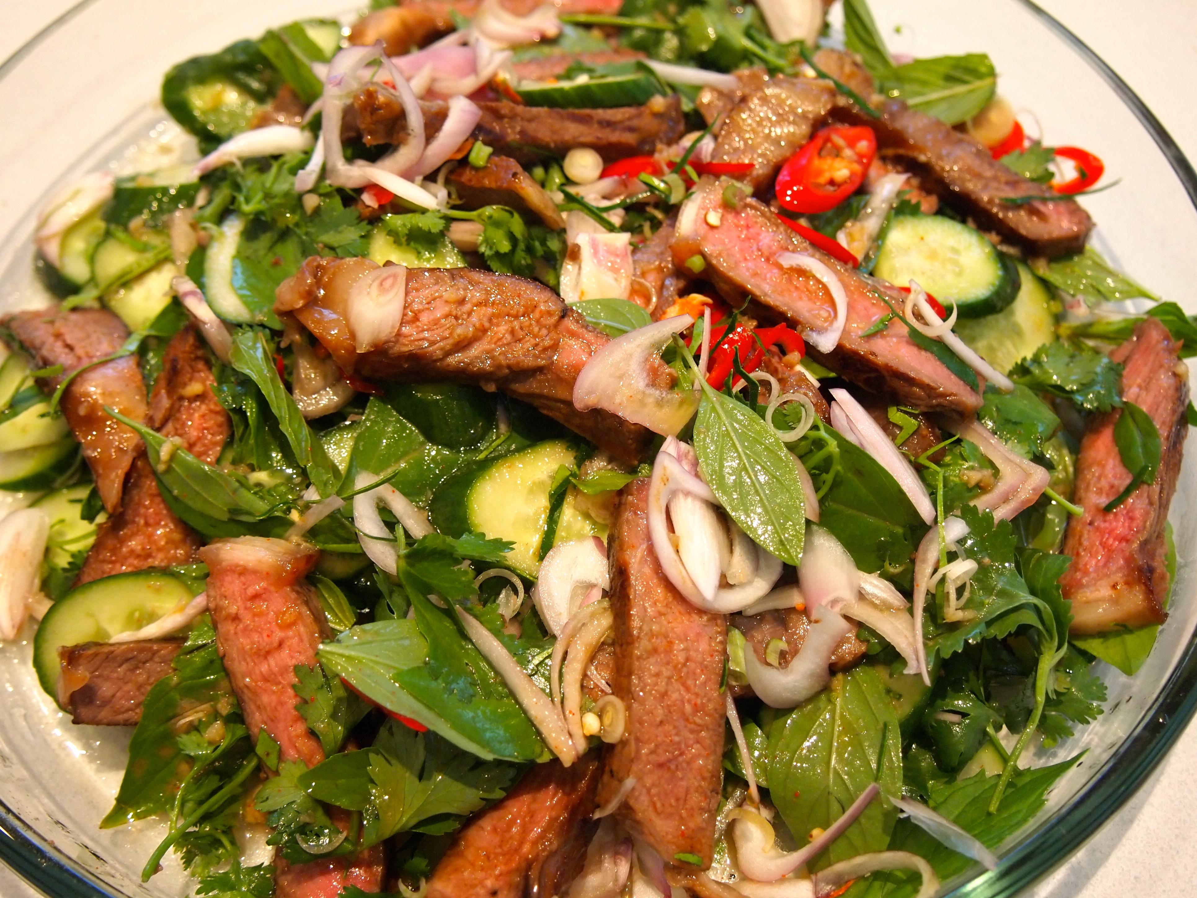 Рецепты салата из легкого говядины с
