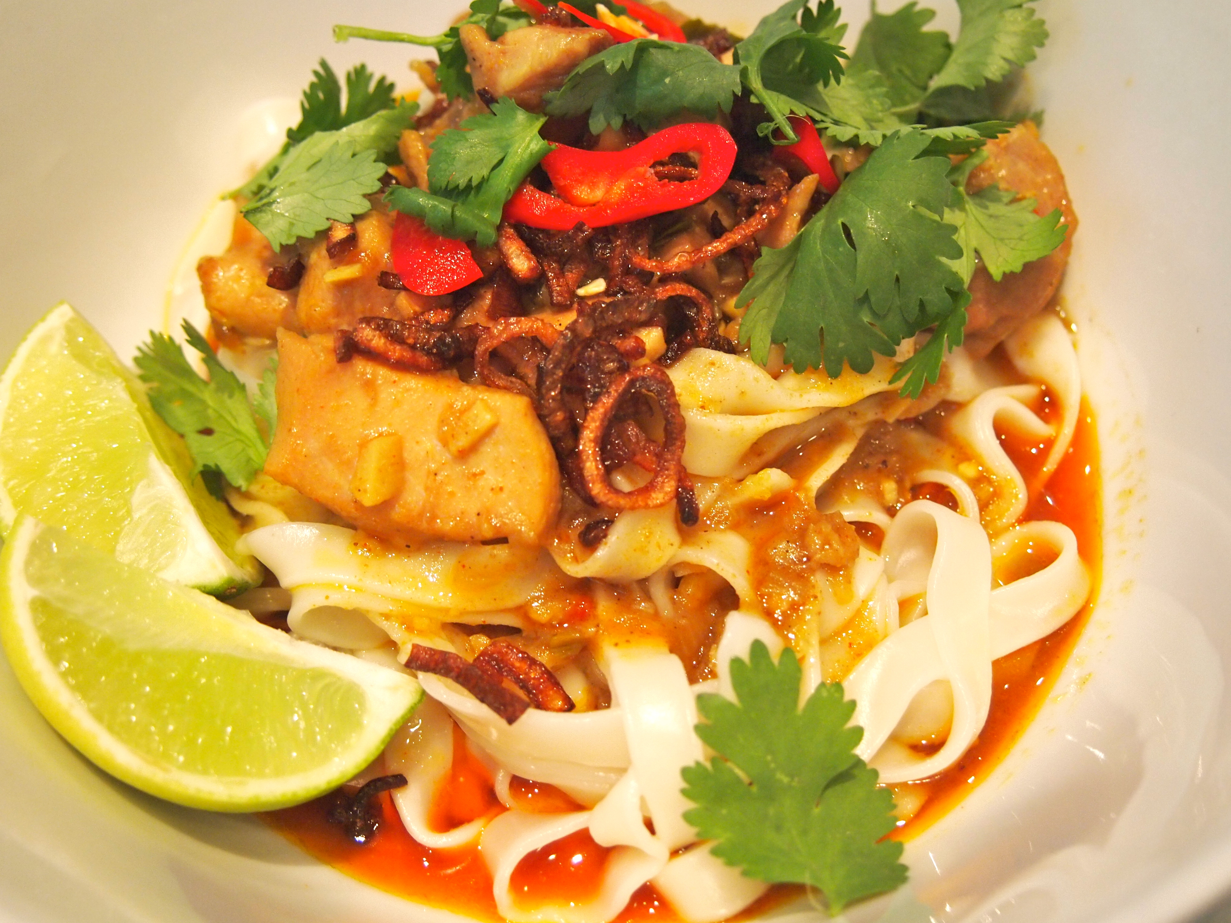 Khao Soi Egg Noodles With Rich Chicken Curry Sauce