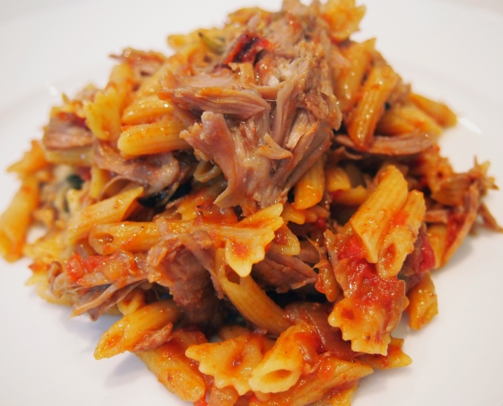 Riga's Lamb - Slow Cooked Lamb with Onions, Tomatoes & Pasta