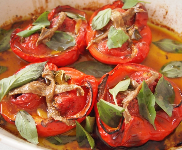 Simon Hopkinson's Baked Red Peppers