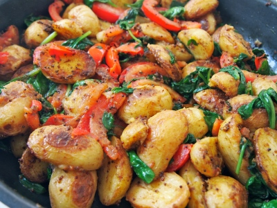 Oven Roasted Bombay Potatoes