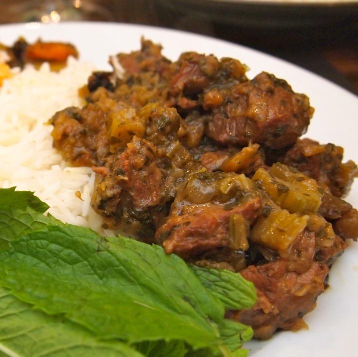 Persian Celery and Lamb Stew - Khoresht Karafs