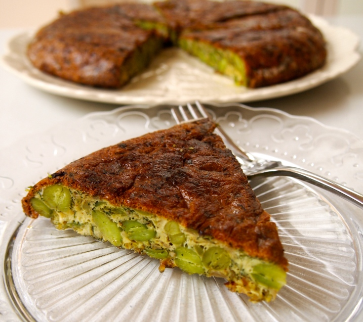 "Kookoo Baghali - Persian Broad Bean and Dill ""Frittata"""