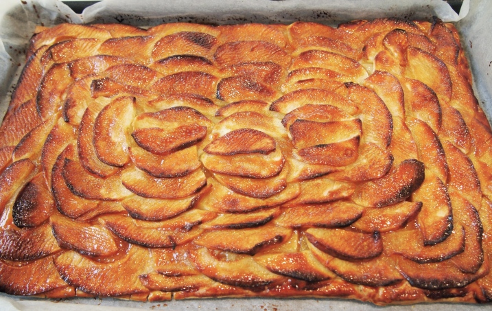 French Apple Tart with Salted Caramel Glaze