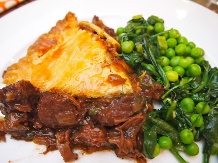 Beef & Red Wine Pie with Sour Cream Pastry
