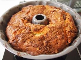 Sour Cream Walnut Streusel Cake