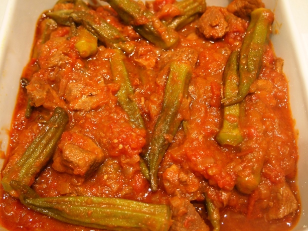 Khoresht Bamieh - Persian Lamb & Okra Stew