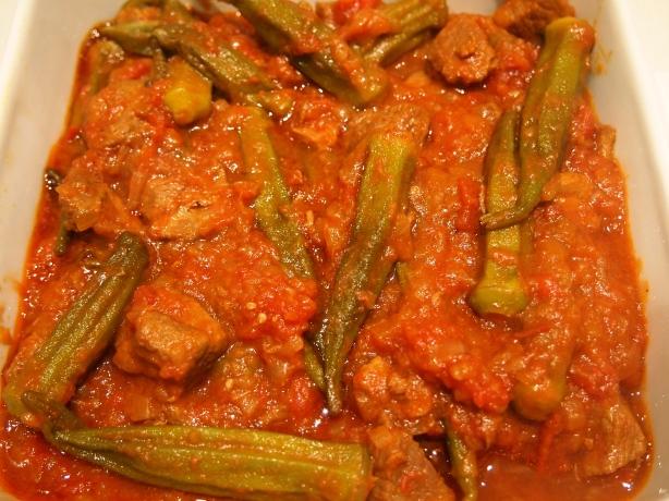 Khoresht Bamieh – Persian Braised Lamb & Okra Stew | Mustard With ...