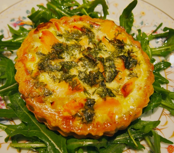 Individual Trout & Herb Tarts