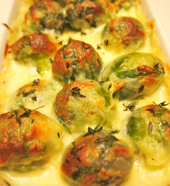 Brussel Sprout & Taleggio Gratin - The Ultimate Brussel Sprout Side Dish