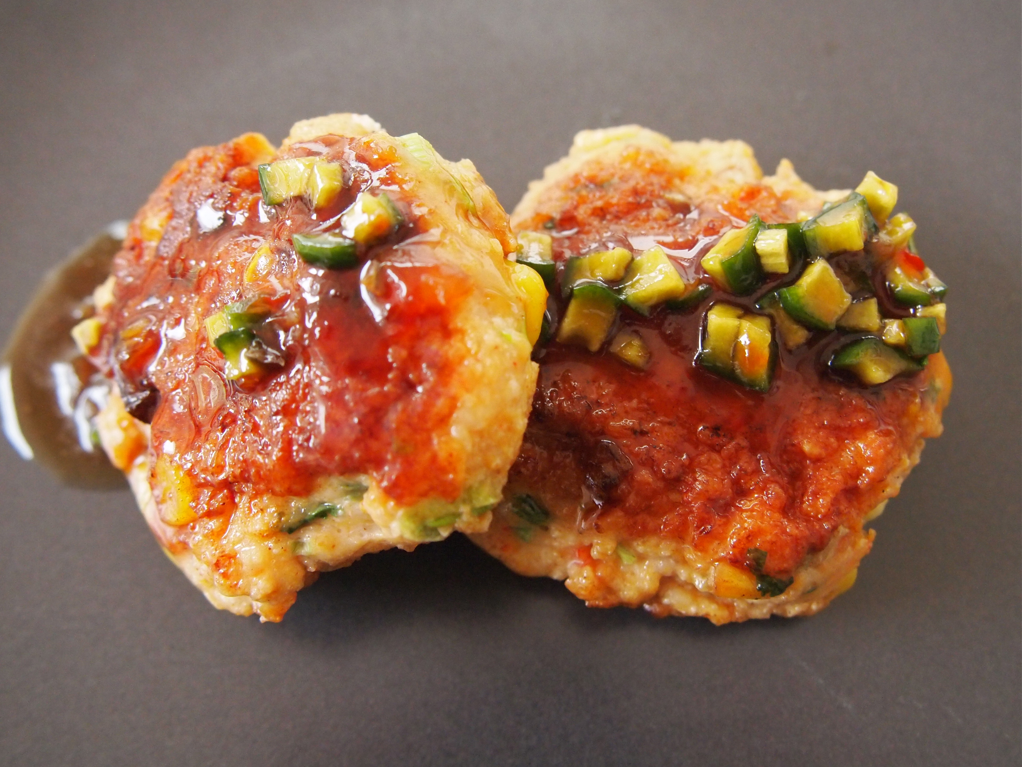 Thai Style Prawn Chicken Corn Cakes