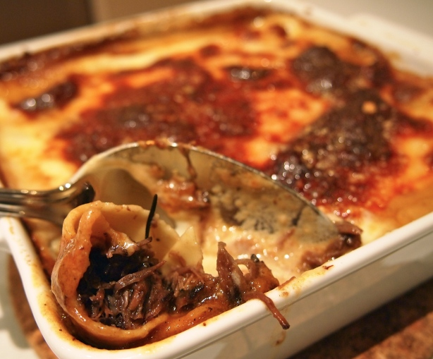 Beef Cannelloni with Taleggio Sauce