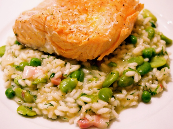 Broad Bean. Pea & Dill Risotto