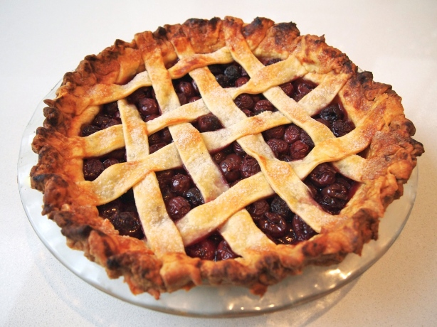 Classic Sour Cherry Pie with Lattice Topping