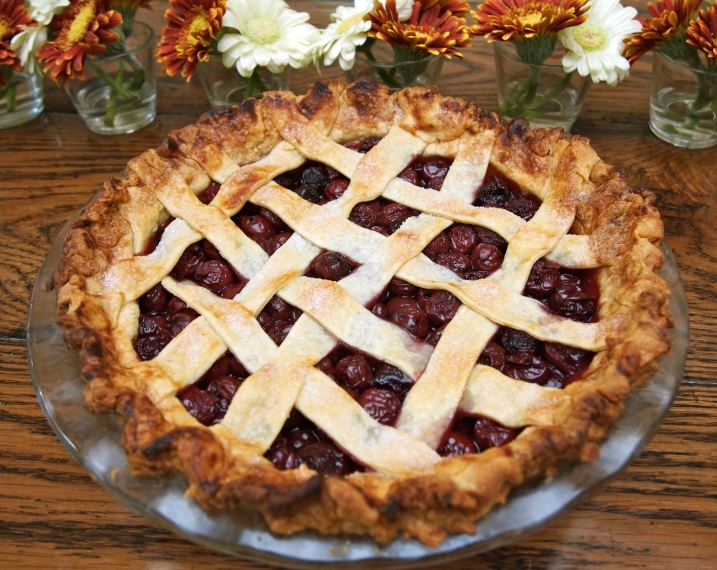 Sour Cherry Pie with Lattice Top