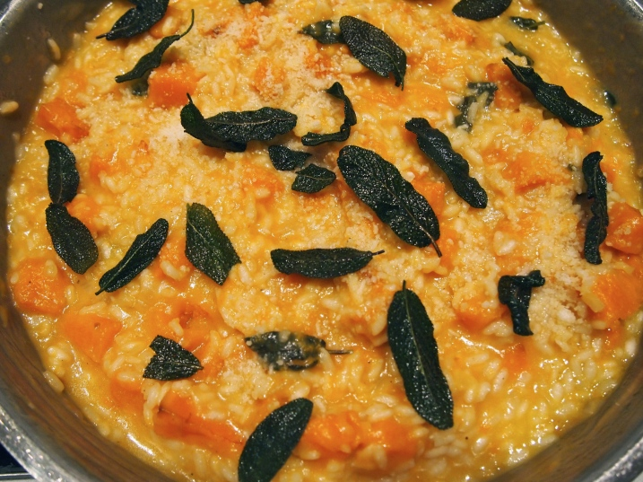 Baked No -Stir Pumpkin & Sage Risotto