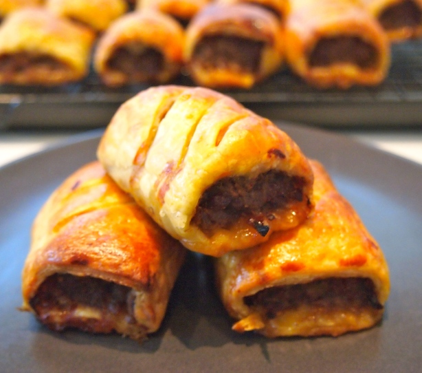 Home Made  Beef, Cheddar & Caramelised Onion Sausage Rolls