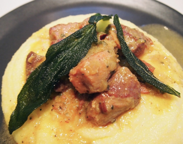 Italian Braised Pork in Milk with Sage & Polenta