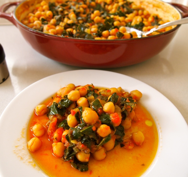 Slow Braised Chickpeas with Cavolo Nero