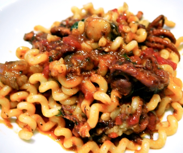 Marea's Fusilli with Octopus & Bone Marrow