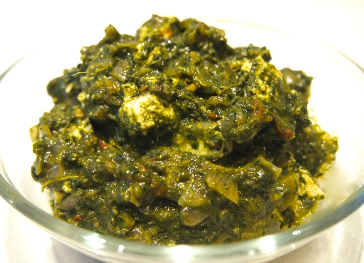 Home Made Palak Paneer
