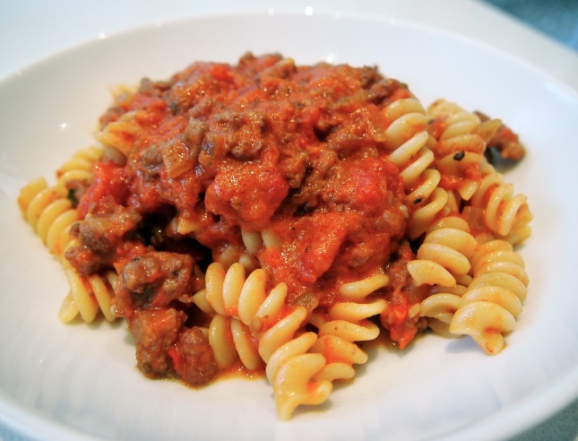 Pasta with Sausage Ragu