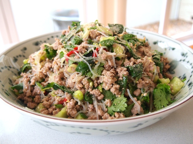 Larb Salad - Spicy Laotian Salad of Minced Meat & Herbs