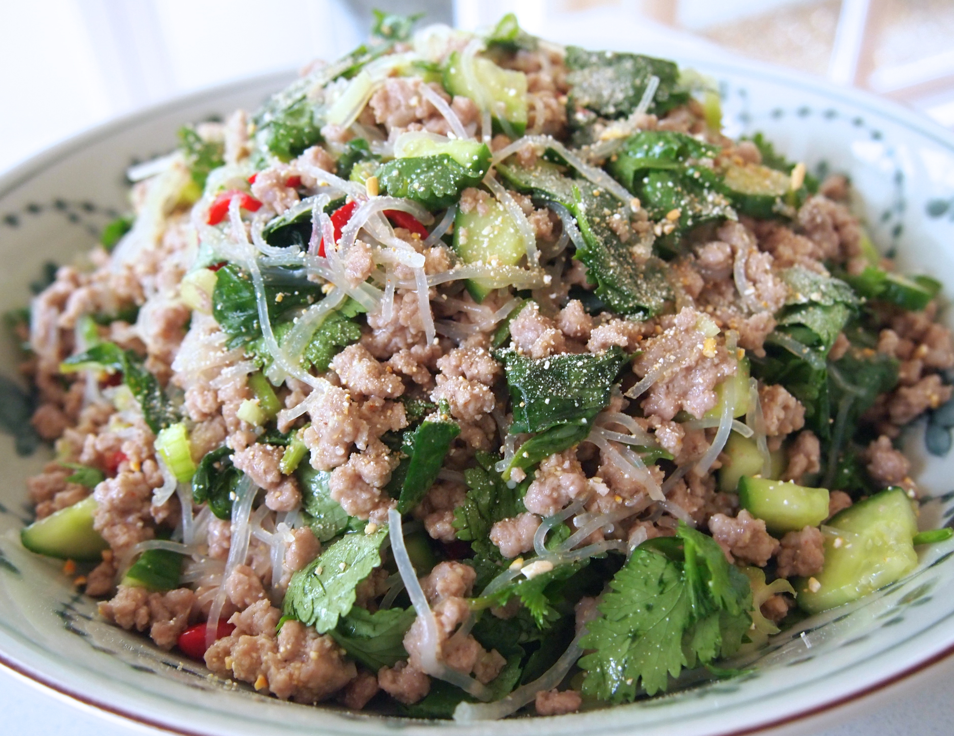 Larb Laotian Minced Meat Herb Salad Mustard With Mutton