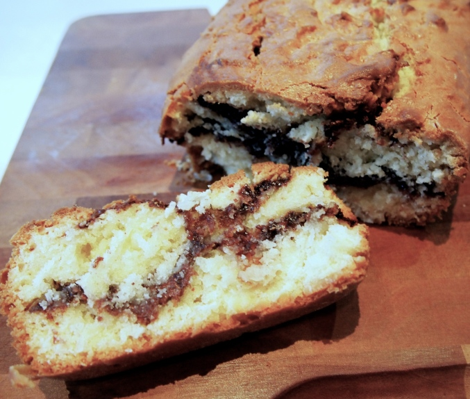 Coconut Nutella Swirl Loaf