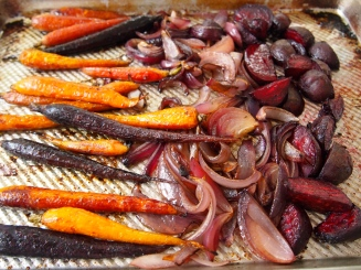 Roast Beetroot, Carrots & Red Onions