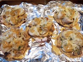 Scallops Mornay Prior to Grilling