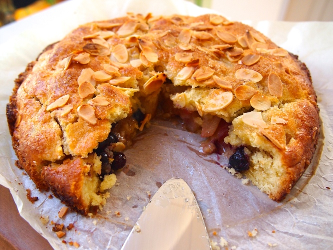 A Cake for Autumn - Pear & Blueberry Shortcake