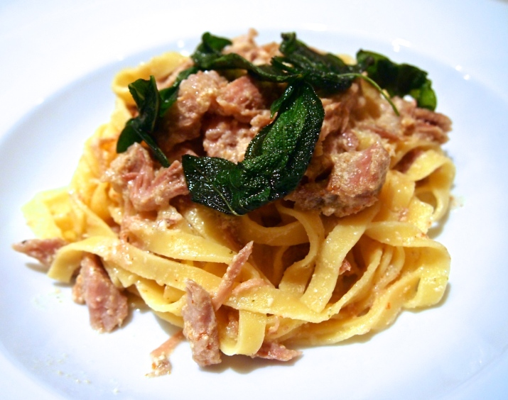 Milk Braised Pork Ragu with Fresh Fettucine
