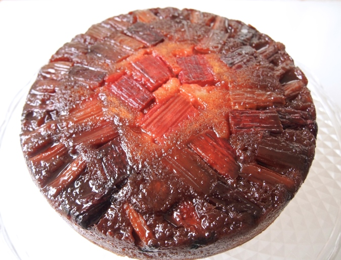 Caramelised Rhubarb Upside Down Cake