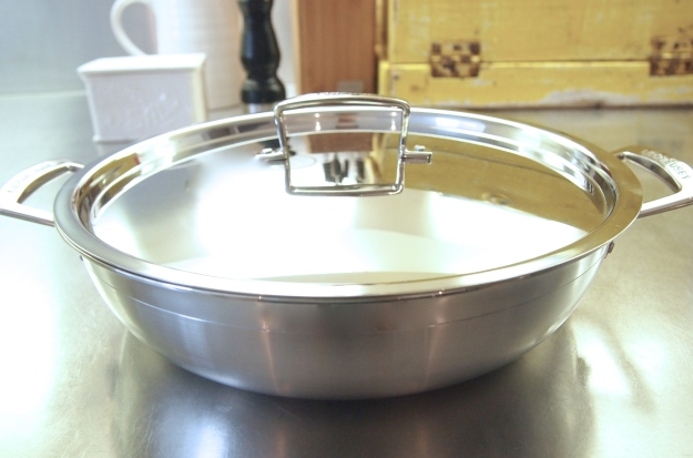 Le Creuset 30cm Shallow Stainless Steel Casserole