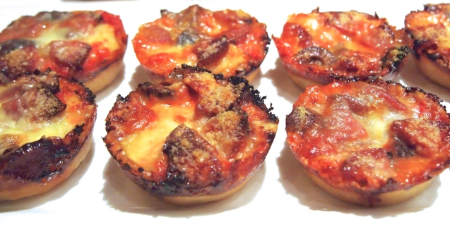 Mini Deep Dish Pizzas