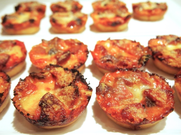Muffin Tin Deep Dish Pizzas