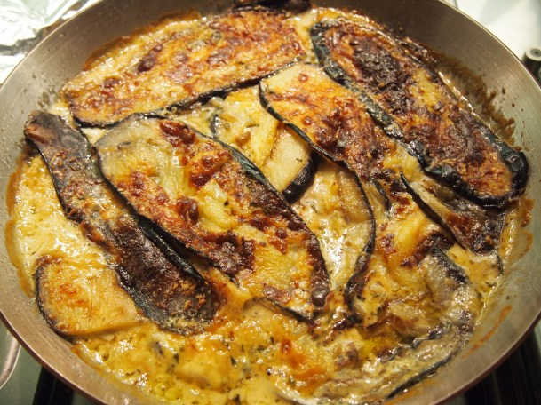 Nigel Slater's Roasted Eggplant with Cream & Thyme