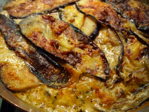 Best lamb Side Dish - Nigel Slater's Roasted Eggplant with Cream & Thyme