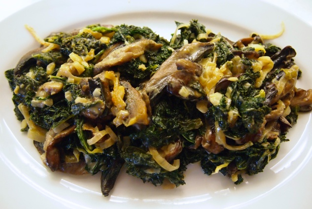 A Great Thanksgiving Side Dish - Miso Creamed Kale