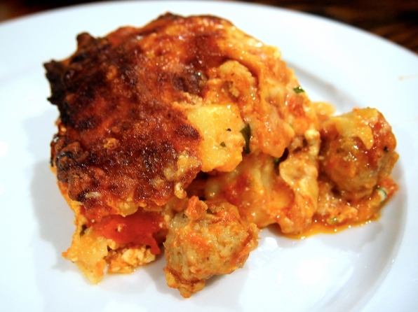 Ultimate Comfort Food - Sausage Meatball Lasagna