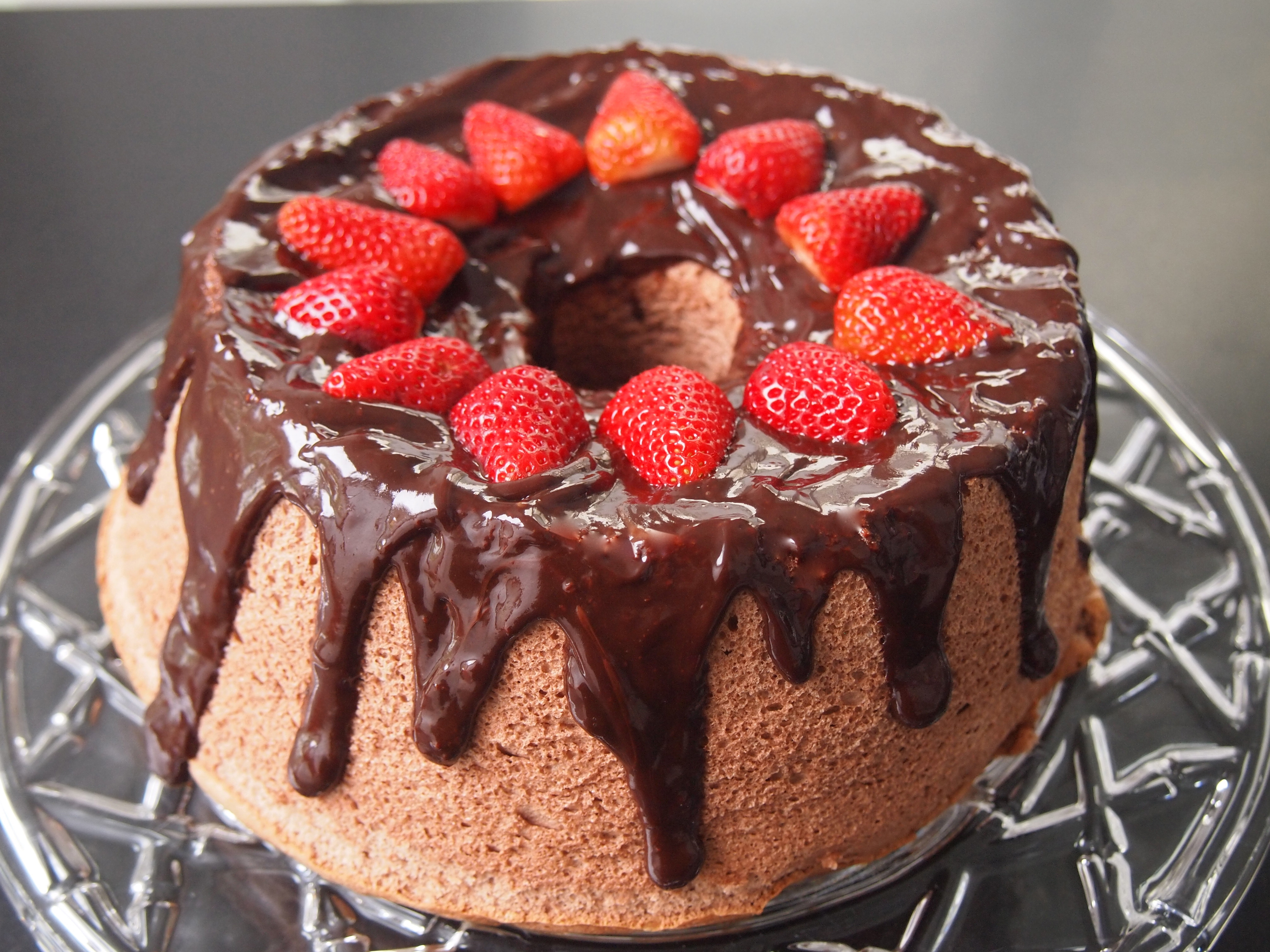 Chocolate Angel Food Cake – A Fat Free Cake | Mustard With Mutton