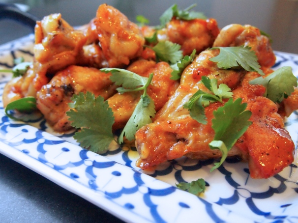 Crispy Lime & Red Curry Chicken Wings
