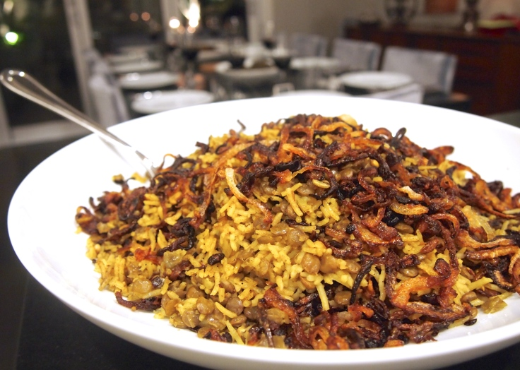 Ottolenghi's Spiced Rice with Lentils & Caramelised Onions