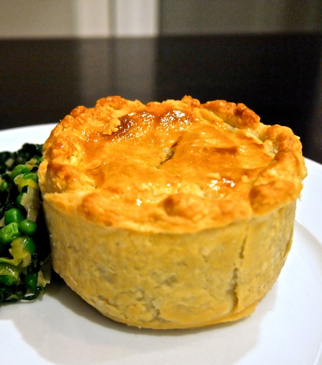 Beef Onion & Guinness Pie with Sour Cream Pastry