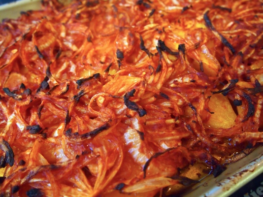 Turkish Sinkonta - Baked Pumpkin with Tomato Paste & Onions